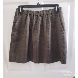 Madewell Gold Stretchy Jacquard Skirt Size XS